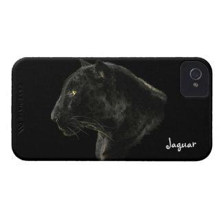 Caso de la fauna iPhone4 del gato grande de Jaguar iPhone 4 Protectores