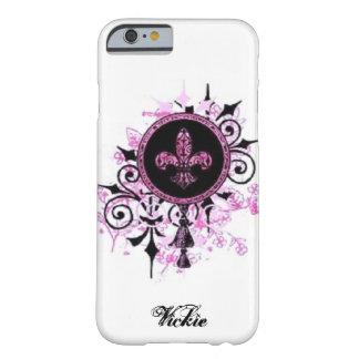 Caso de la flor de lis del Grunge Funda De iPhone 6 Barely There