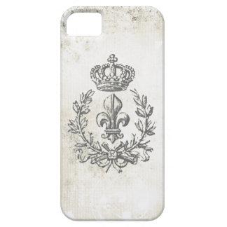 Caso de la flor de lis y de la Corona-iphone 5 del iPhone 5 Protector