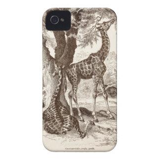 caso de la jirafa del vintage - plantilla modifica iPhone 4 fundas