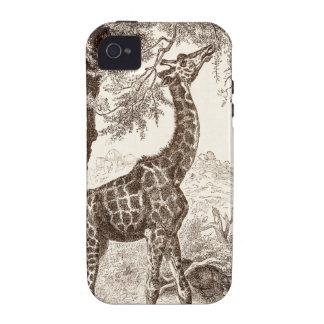 caso de la jirafa del vintage - plantilla modifica iPhone 4/4S carcasa