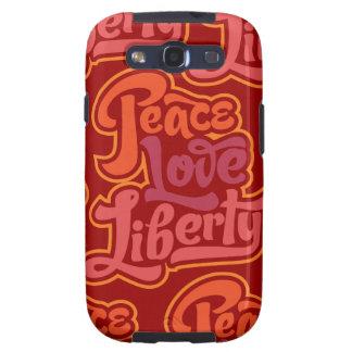Caso de la libertad del amor de la paz galaxy s3 cobertura