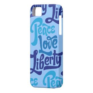 Caso de la libertad del amor de la paz iPhone 5 carcasas