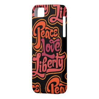 Caso de la libertad del amor de la paz iPhone 5 funda