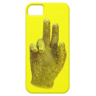 Caso de la mano del oro iPhone 5 funda