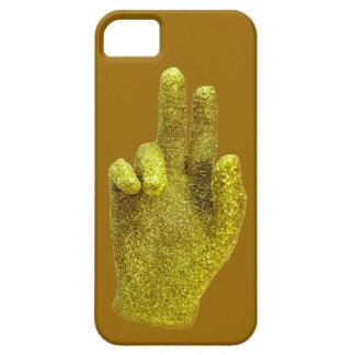 Caso de la mano del oro iPhone 5 protectores