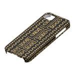 Caso de la moda del paño del fango iPhone 5 Case-Mate fundas