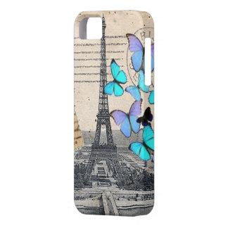 Caso de la moda iphone5 de la mariposa de París de iPhone 5 Cárcasas