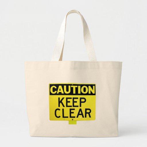 Caso de la muestra de la precaución bolsa de mano
