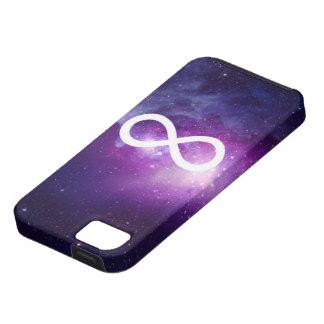 caso de la muestra del infinito de la galaxia del  iPhone 5 protectores