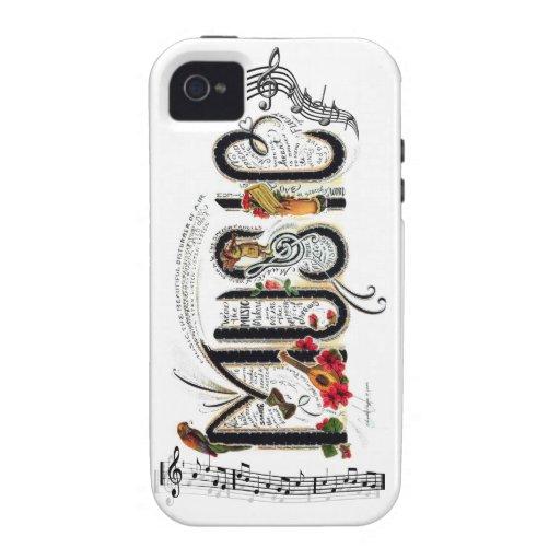 Caso de la música carcasa para iPhone 4/4S