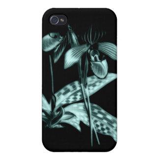 Caso de la orquídea de deslizador de señora iPhone 4 protector