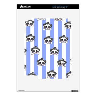 Caso de la panda de Kawaii iPad 2 Calcomanía