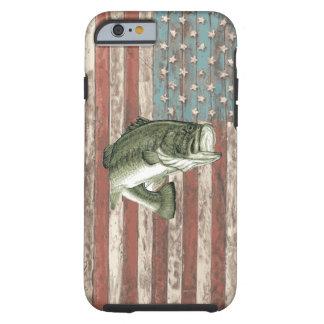 Caso de la pesca de la lubina de la bandera de funda de iPhone 6 tough