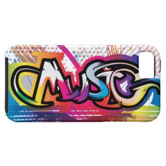 caso de la pintada de la música del iPhone 5 iPhone 5 Fundas