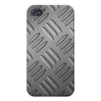 Caso de la placa de metal iPhone4 del diamante iPhone 4 Fundas