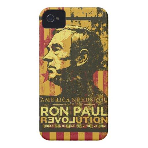 Caso de la revolución de Ron Paul Funda Para iPhone 4