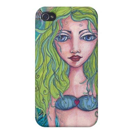 Caso de la sirena de Iphone 4 iPhone 4 Fundas