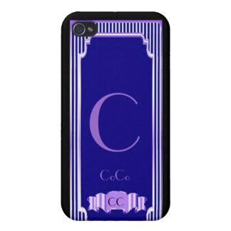 Caso de las altas costuras iPhone4 del azul de cob iPhone 4 Carcasas