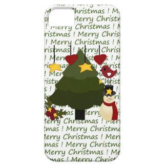 Caso de las Felices Navidad del iPhone lindo 5 del iPhone 5 Cárcasa