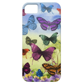 Caso de las mariposas iPhone 5 carcasa