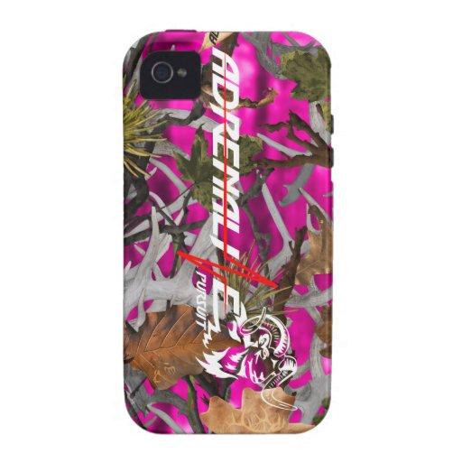 Caso de las ovejas del rosa del camuflaje de la bú vibe iPhone 4 carcasas