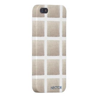 Caso de lino moderno 5 y 5s del iPhone iPhone 5 Cárcasa