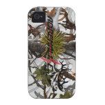 Caso de los alces de la nieve del camuflaje de la  iPhone 4/4S carcasa