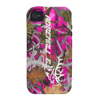 Caso de los alces del rosa del camuflaje de la bús iPhone 4/4S carcasas