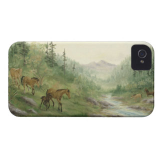 Caso de los caballos iPhone4/4S de la montaña Carcasa Para iPhone 4 De Case-Mate