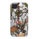 Caso de los ciervos de la nieve del camuflaje de l iPhone 4 fundas