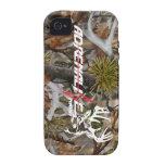 Caso de los ciervos del camuflaje de la búsqueda d vibe iPhone 4 carcasas