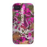 Caso de los ciervos del rosa del camuflaje de la b Case-Mate iPhone 4 carcasa