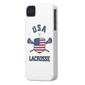 Caso de los E.E.U.U. LaCrosse iPhone 4 Funda