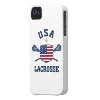 Caso de los E.E.U.U. LaCrosse iPhone 4 Cárcasa