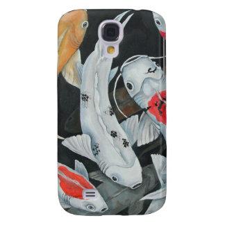 Caso de los pescados 3G de Koi 9 Funda Para Galaxy S4