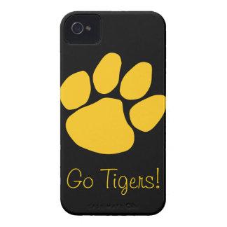 Caso de los tigres Case-Mate iPhone 4 protector