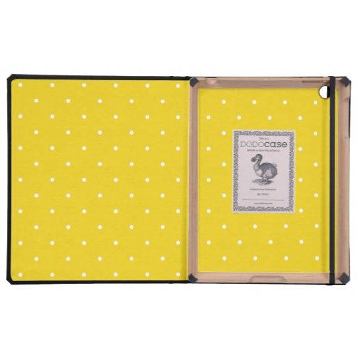 Caso de lujo del iPad - modelo de lunar del limón
