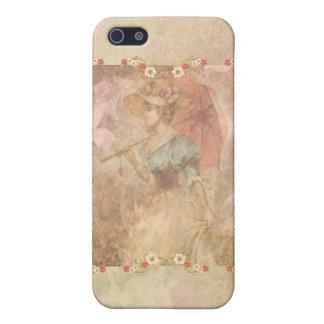 Caso de lujo del iPhone 4 de señora Dainty Flowers iPhone 5 Funda