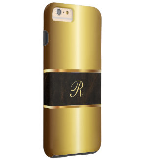 Caso de lujo del iPhone 5C de la mirada del oro Funda De iPhone 6 Plus Tough