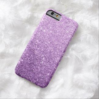 Caso de lujo del iPhone 6 del brillo púrpura Funda Para iPhone 6 Barely There