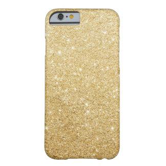 Caso de lujo del iPhone 6 del falso brillo del oro Funda Barely There iPhone 6