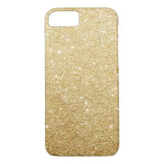 Caso de lujo del iPhone 7 del falso brillo del oro Funda iPhone 7