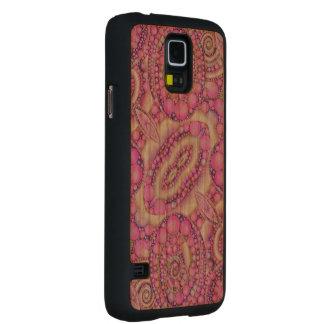 Caso de madera abstracto hermoso loco de Samsung Funda De Galaxy S5 Slim Cerezo