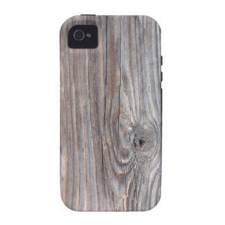 Caso de madera agrietado del iPhone 4 Case-Mate iPhone 4 Carcasa