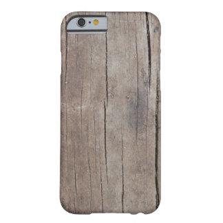 Caso de madera agrietado funda de iPhone 6 barely there