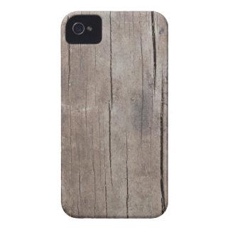 Caso de madera agrietado Case-Mate iPhone 4 fundas