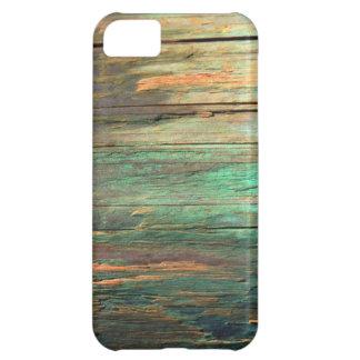 Caso de madera artístico del iphone 5 del grano funda para iPhone 5C