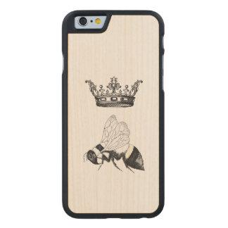 Caso de madera de Iphone de la abeja reina Funda De iPhone 6 Carved® De Arce