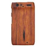 Caso de madera de Motorola Droid RAZR del grano Motorola Droid RAZR Fundas